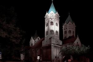 Beleuchtungsprobe St. Marien Freyburg (2)
